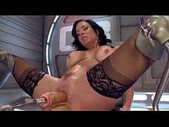 Double Fuck Machine For Perfect Brunette from v...
