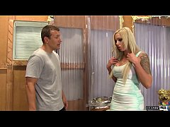 Hot Tattoed Blonde Nina Elle puts out for her step brother