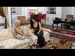 Clip sex not charlies angels xxx sunny leone brenne benson lick and play with one another