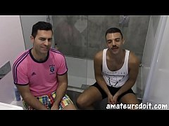 Interviewed amateur stud has hairy ass barebacked before cumming