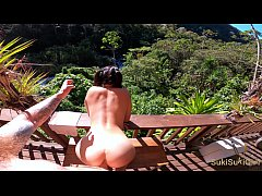 OUTDOOR Creampie & Deepthroat with a drone in t...