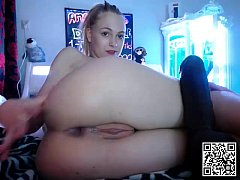 Extreme Young Girl Does Giant BBC in her Little AssHole —   www.girls4cock.com/siswet19