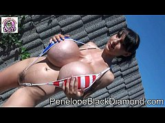 Clip sex Penelope Black Diamond - sexy us monokini - bikini - outdoor preview