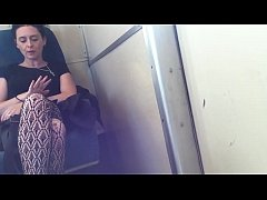 Atrractive female Bulge Watching on the Train