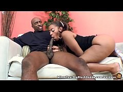BigAss Ebony Ms Juicy Sucking On BBC MonsterCock