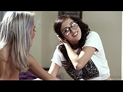 Busty Lesbian Couple Janice Griffith and April ...