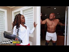 BANGBROS - Vickie Starxxx Bounces Her Black Big...