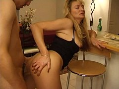 French Mature Blonde From ExposedCougars.com Anal Fucked By Young Man