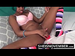 Real Intense Orgasm Pussy Squirt By Young Ebony...
