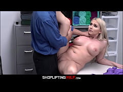 Big Tits Blonde Big Ass MILF Stepmom Cashier Ch...