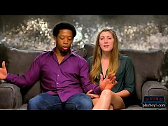 Interracial couple finds blonde for their first...