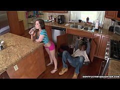 The Plumber Gets His Pipe Cleaned by Teen Bambi...