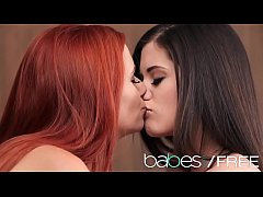 Sexy redhead lesbian licks some pussy - BABES