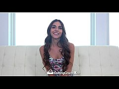 CASTINGCOUCH-X Newcomer brunette Arielle Faye f...