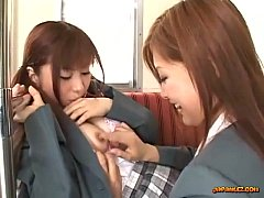 Schoolgirl Kissing Getting Her Tits Rubbed Nipples Sucked By Other Schoolgirl On