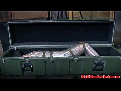 Mummified submissive learns discipline