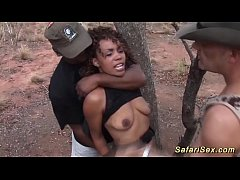 wild fuck orgy with african babe