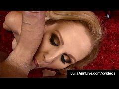 Cum Milking Cougar Julia Ann Strokes, Blows & P...