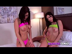 Banging Family - Real Twins Sisters Lane Hot Threesome
