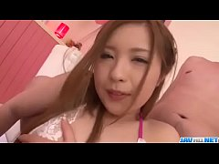 Mika Nakagawa gets shared by two lads in threes...