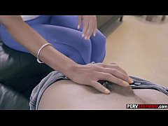 Wild MILF stepmom relaxed a stepson before an interview