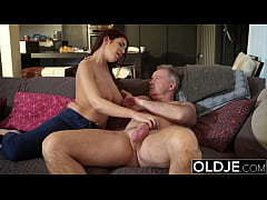 Busty escort first time serving a daddy her big tits
