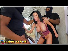 BLACKS ON MOMS - Two Masked Home Invaders Shove Their Big Black Cocks Inside Of Veronica Avluv