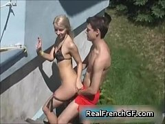 frenchgfs fuck blonde hard blowjob cum french g...