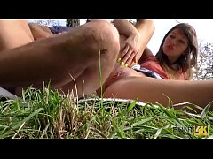 HUNT4K. Beautiful girl nicely assfucked for money in public park