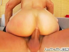 Ass Traffic Blonde gets two dicks in her ass and loves cumshots