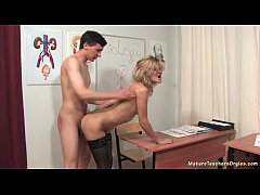 Russian mature teacher 4...