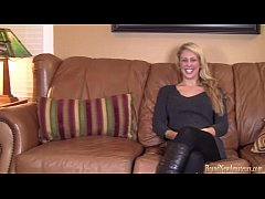 Sexy blonde on casting audition fucked given a ...