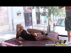 Blonde babe picked up roadside for truck sex