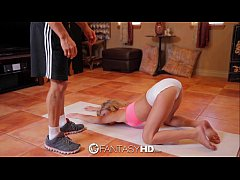 FantasyHD - Yoga workout turns into fucking tin...