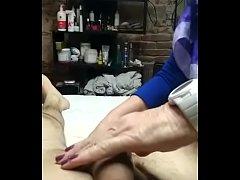 Mature waxing dick