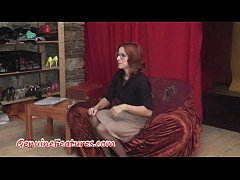 Backstage casting interview with hot MILF
