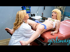 MILF Doctor Helps Petite Patient Squirt EVERYWH...
