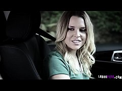 Aubrey Sinclair blowjob the drivers thick cock