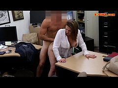 Clip sex Foxy huge boobs business lady screwed up for money