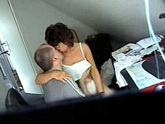 My mom and boy frend caught by hidden cam