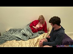 Stepmom surprises stepson in bed wanting cock