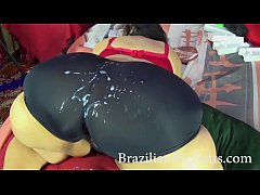 BrazilianBigButts.com ssbbw granny 60 years old with giant butt and short shorts