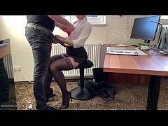 female boss uses trainee for dick riding, Busin...