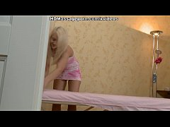 Clip sex Hot blonde undressed massaged and fucked hard by her masseur