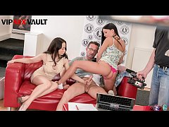 VIP SEX VAULT - Eveline Dellai Comes At Casting With Her BFF Aurelly Rebel Where The Agent Treat Her With Anal