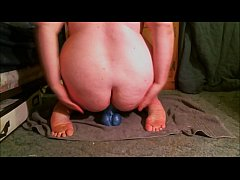 thumb slut stuffin g her ass with extreme toys