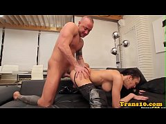 Booted latina tgirl with...
