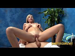 Spotty Skinny Blonde Teen Gets First Time Facial