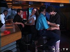 French swingers in a groupsex party in a club