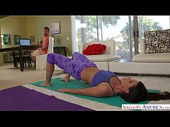 Horny yoga brunette gets a big married dick to ...